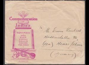 Werbung Indien Musik-Instrumente 1952 Bombay - Neuss (26287