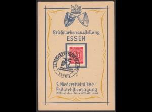 Philatelisten Essen 1947 SST Ausstellung Sonderkarte (26301