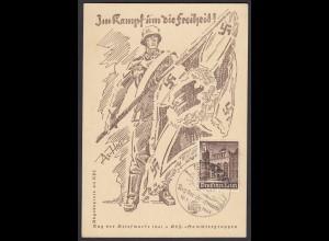 NS Propagandakarte Kampf um die Freiheit SST Tag der Marke KDF Sammlergruppen