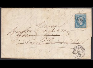 Frankreich - France 1866 VERDUN S MEUSE 4139 Brief mit Inhalt (26306