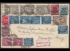 DR Infla-Brief MIF Buntfrankatur mit zusätzlichen Gebühr bezahlt (26308