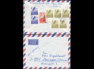 Birma Myanmar LP Brief nach Deutschland Lauingen 1972 Vögel (26327