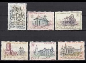 Rumänien-Romania 1968 Historische Bauwerke Mi. 2714-19 (24667