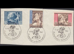 3.Reich DR 1942 Michel Nr. 820-22 SST Europäischer Postkongress (26335