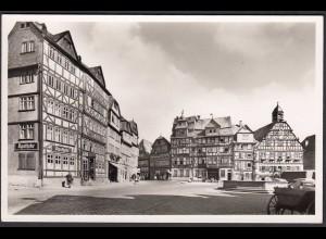 AK Butzbach Marktplat Apotheke Fachwerkhäuser (26345