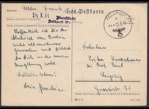 Feldpost Karte WW2 1940 Dieststelle 29211 nach Leipzig (26346