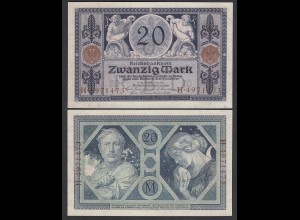 Reichsbanknote 20 Mark 1915 Ro 53 aUNC = AU (1-) (26353