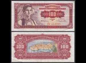 Jugoslawien - Yugoslavia 100 Dinara 1955 Pick 69 VF (3) (26361