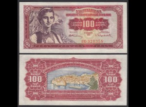 Jugoslawien - Yugoslavia 100 Dinara 1955 Pick 69 aUNC (1-) (26363