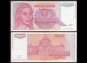 Jugoslawien - Yugoslavia 1-Milliarde (Billion) Dinara 1993 Pick 126 VF (3)