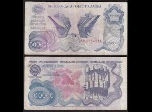 Jugoslawien - Yugoslavia 500-tausend Dinara 1989 Pick 98a F (4) 26369