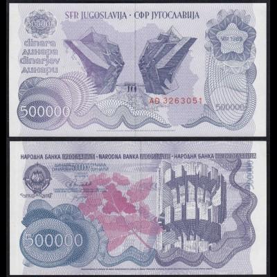 Jugoslawien - Yugoslavia 500-tausend Dinara 1989 Pick 98a UNC (1) 26370