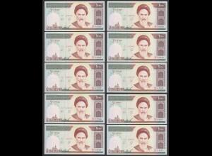 IRAN (Persien) - 10 Stück á1000 RIALS (1992) Sign 27 Pick 143b UNC (1) (89034