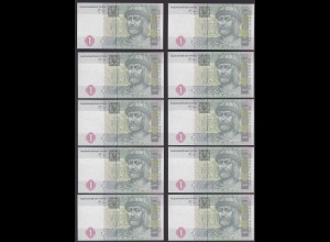 UKRAINE 10 Stück á 1 Hryvnia Banknote 2005 Pick 116b UNC (1) (89042