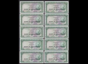 MOSAMBIK - MOZAMBIQUE 10 Stück á 100 Escudos (1976) Pick 117a UNC (1) (89046
