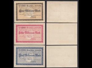 Dülmen Westfalen 1,5,10-Millionen Mark 1923 Gutschein Notgeld selten (26389