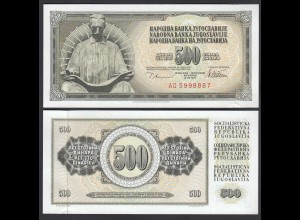 JUGOSLAWIEN - YUGOSLAVIA 500 Dinara 1978 Pick 91a UNC (1) (26395