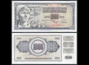 JUGOSLAWIEN - YUGOSLAVIA 1000 Dinara 1978 Pick 92c UNC (1) (26396