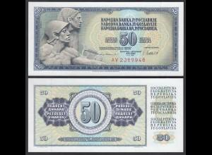 JUGOSLAWIEN - YUGOSLAVIA 50 Dinara 1981 Pick 89b UNC (1) (26397