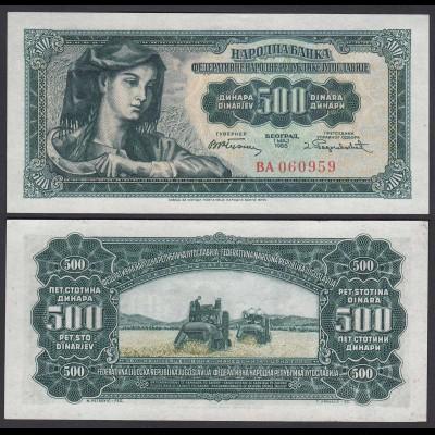Jugoslawien - Yugoslavia 5 Dinara Banknote 1955 Pick 70 UNC (1) (26400