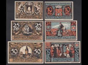 Bad Salzuflen 3 Stück 1921 Notgeld 10,25,50 Pfennig (26404