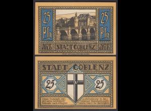 Coblenz = Koblenz 25 Pfennig Notgeld 1921 UNC (1) (26405