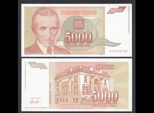 Jugoslawien - Yugoslavia 5000 Dinara 1993 Pick 128 UNC (1) (26409