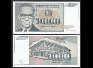 Jugoslawien - Yugoslavia 10 Millionen Dinara 1993 Pick 122 UNC (1) (26412