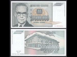 Jugoslawien - Yugoslavia 10 Millionen Dinara 1993 Pick 122 UNC (1) (26413