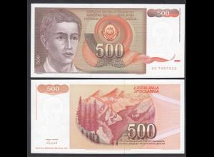 Jugoslawien - Yugoslavia 500 Dinara 1991 Pick 109 UNC (1) (26415