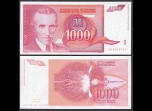 Jugoslawien - Yugoslavia 1000 Dinara 1992 Pick 114 UNC (1) (26416