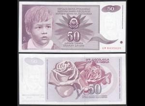 Jugoslawien - Yugoslavia 50 Dinara 1990 Pick 104 aUNC (1-) (26418