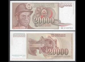 Jugoslawien - Yugoslavia 20000 20.000 Dinara 1987 Pick 95 UNC (1) (26420