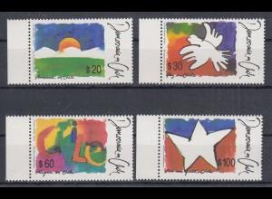 Chile 1990 Demokratie Tagesanbruch Friede Freude Mi. 1355-58 ** (26426