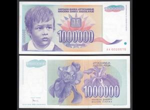 Jugoslawien - Yugoslavia 1 Million Dinara 1993 Pick 120 UNC (1) (26440