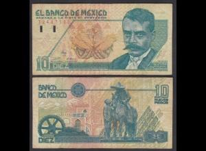 Mexiko - MEXICO - 10 Pesos Banknote 1992 Pick 99 F (4) (26441