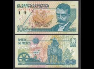Mexiko - MEXICO - 10 Pesos Banknote 1992 Serie E Pick 99 aUNC (1-) (26442