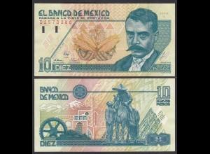 Mexiko - MEXICO - 10 Pesos Banknote 1992 Serie B Pick 99 aUNC (1-) (26443