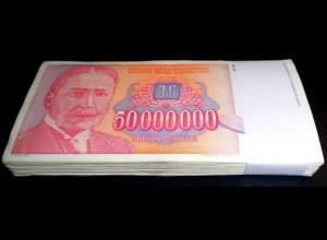 Jugoslawien - Yugoslavia Bundle 100 Stück 50-Millionen Dinara 1993 Pick 133