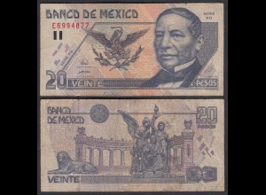MEXIKO - MEXICO - 20 Pesos 1998 Pick 106c F (4) (26453