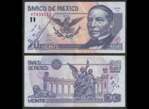 MEXIKO - MEXICO - 20 Pesos 1998 Serie AX Pick 106c VF (3) (26455