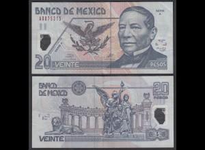MEXIKO - MEXICO - 20 Pesos 2001 Serie A Pick 116a VF (3) Polymer (26456