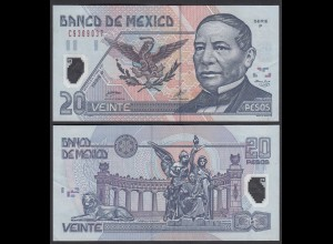 MEXIKO - MEXICO - 20 Pesos 2001 Serie P Pick 116a VF+ (3+) Polymer (26457