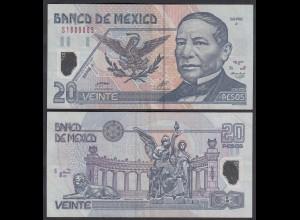 MEXIKO - MEXICO - 20 Pesos 2001 Serie J Pick 116a VF- (3-) Polymer (26458