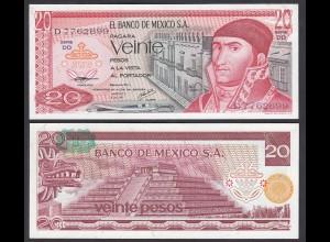 MEXIKO - MEXICO - 20 Pesos 1977 Serie DD Pick 64d UNC (1) (26459