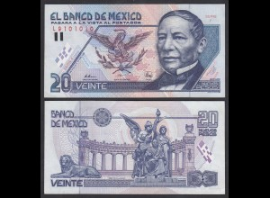 MEXIKO - MEXICO - 20 Pesos 1992 Serie F Pick 100 XF- (2-) (26460