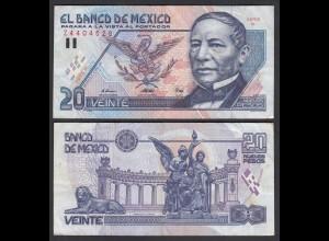 MEXIKO - MEXICO - 20 Pesos 1992 Serie M Pick 100 VF (3) (26461