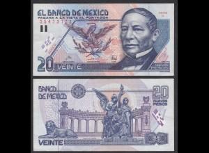 MEXIKO - MEXICO - 20 Pesos 1992 Serie D Pick 100 gutes VF (3) (26462
