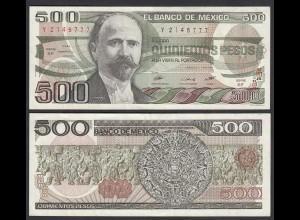 MEXIKO - MEXICO - 500 Pesos 1984 Serie EF Pick 79b gutes VF (3) (26463