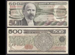MEXIKO - MEXICO - 500 Pesos 1984 Serie DS Pick 79b VF (3) (26464